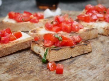 Bruschetta Brot mit Tomate